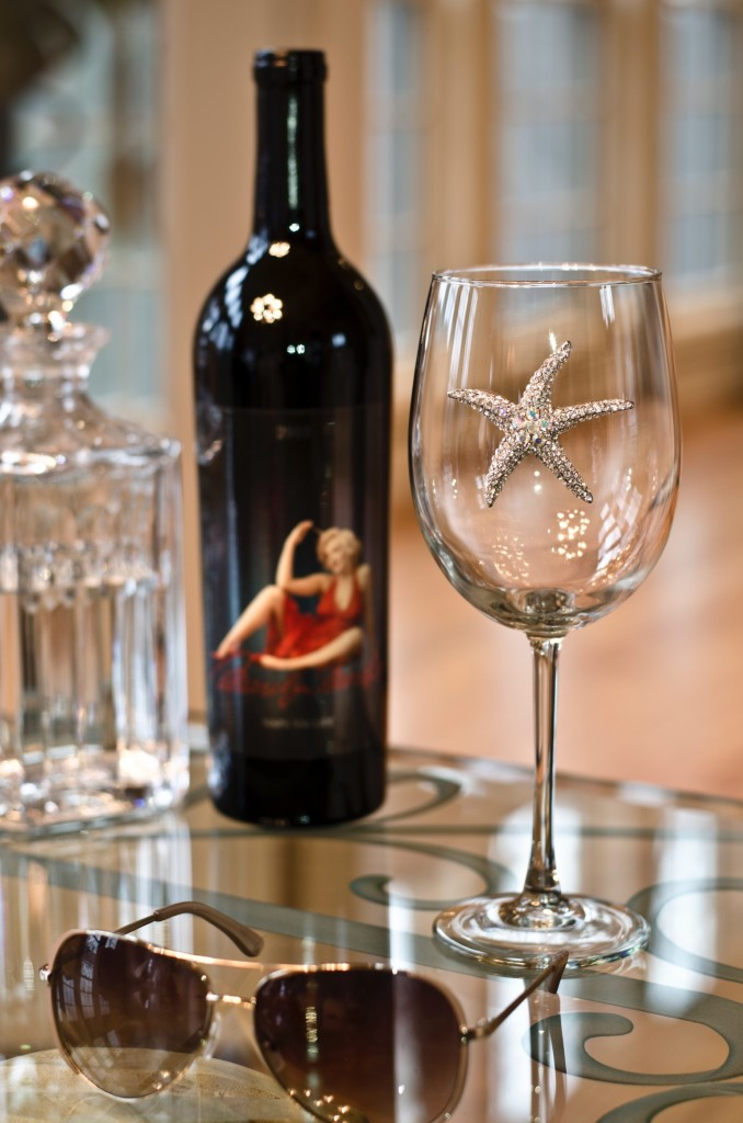 Starfish Jeweled Wine Glass Stemmed