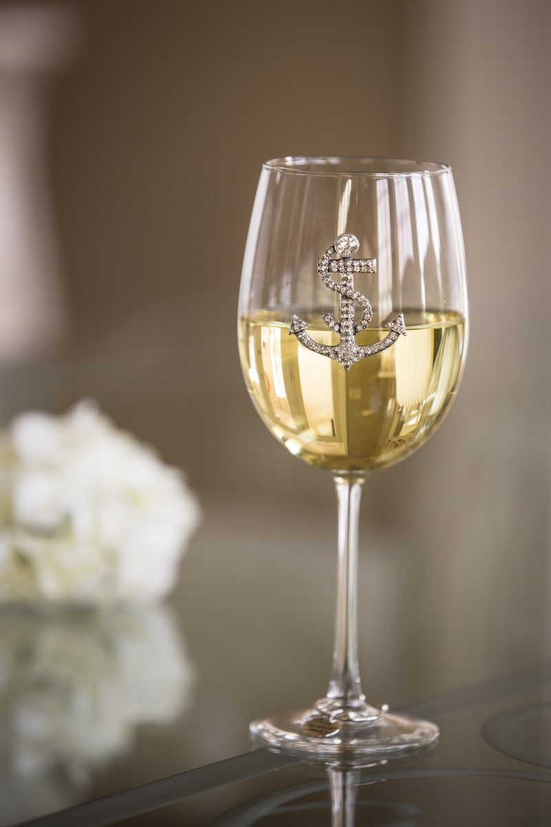 Anchor Jeweled Wine Glass Stemmed