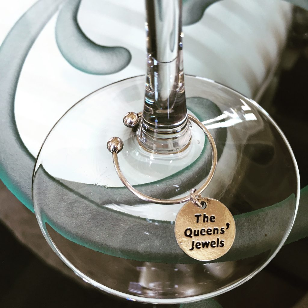 The Queens Jewels Wine Charm