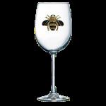 Bee Jeweled Stemmed Wine Glass