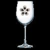 Black Diamond Flower Jeweled Stemmed Wine Glass