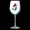 Mermaid Jeweled Stemmed Wine Glass