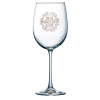 Snowflake Jeweled Stemmed Wine Glass