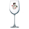 Snowman Jeweled Stemmed Wine Glass