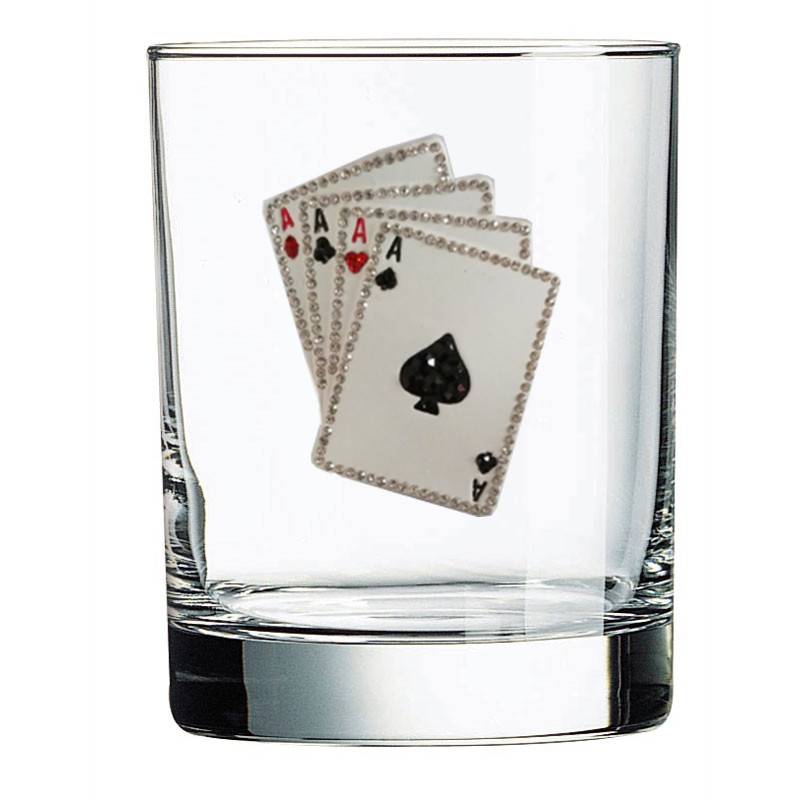Playing Cards Jeweled Double Old Fashion