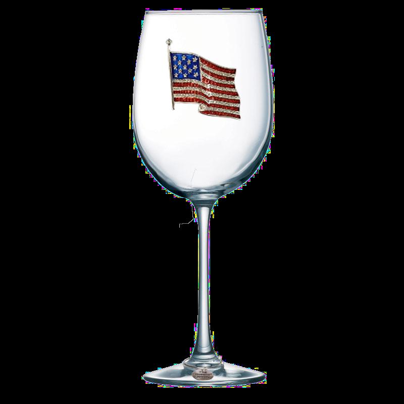 American Flag Stemmed