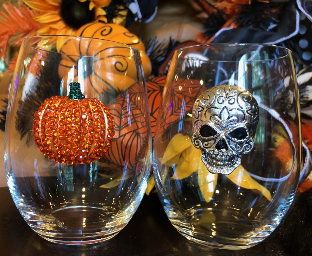 Pumpkin and Skull Stemless Fall Collection