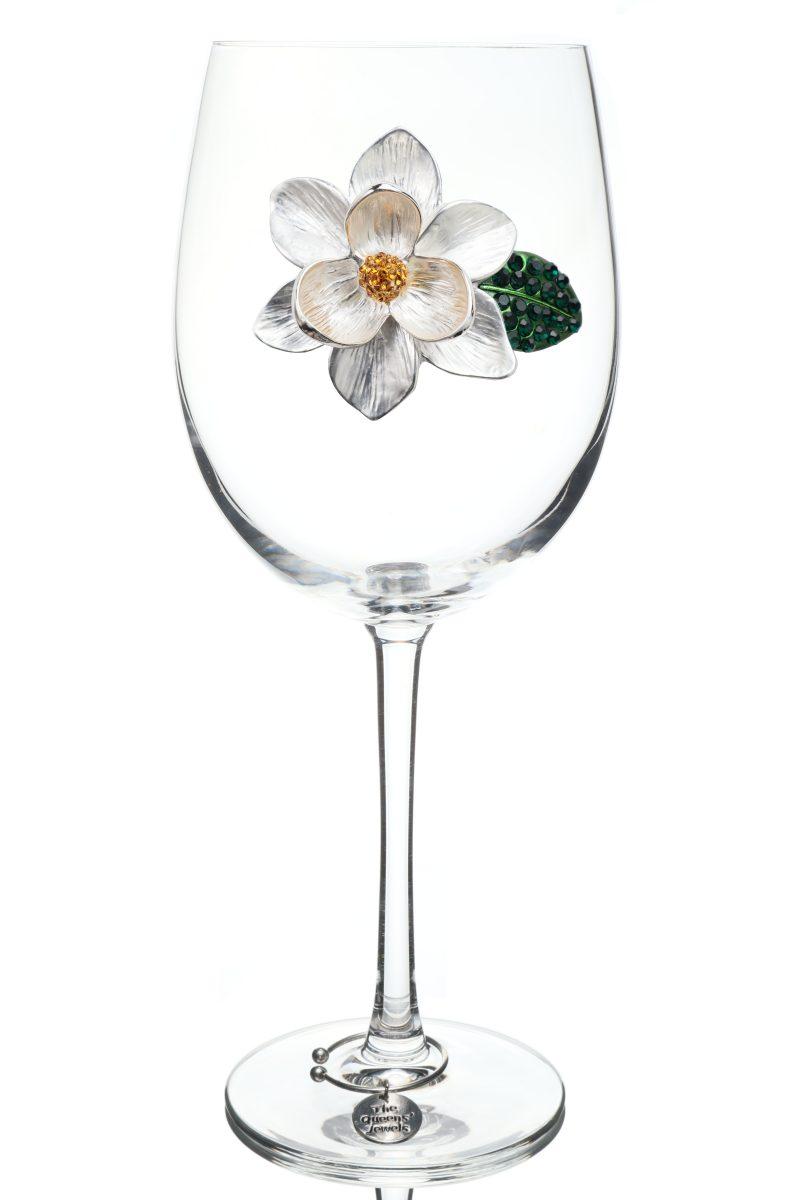 Magnolia Jeweled Stemmed Wine Glass