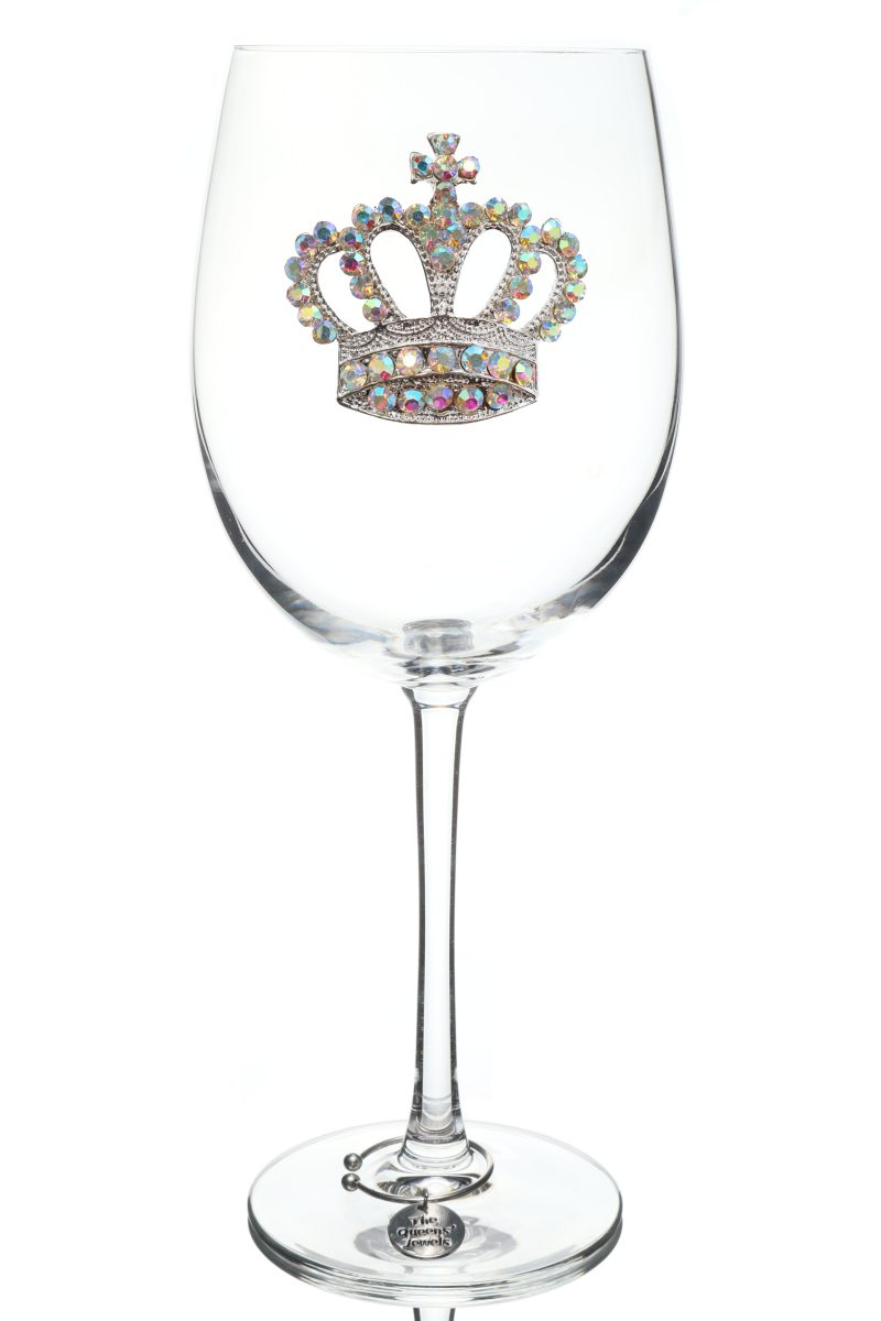 Aurora Borealis Jeweled Stemmed Wine Glass