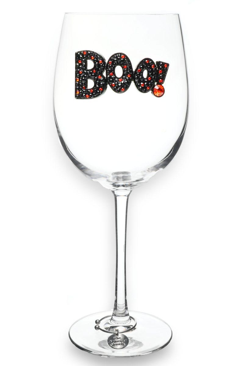 2021 Boo Jeweled Stemmed Wine Glass